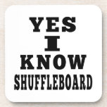 Yes I Know Shuffleboard Drink Coasters