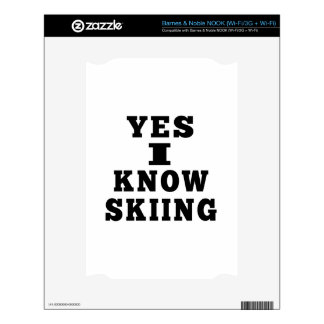 Yes I Know Skiing NOOK Decals
