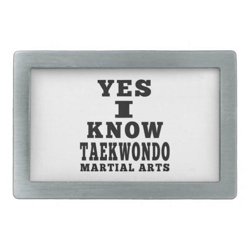 Yes I Know Taekwondo Belt Buckle