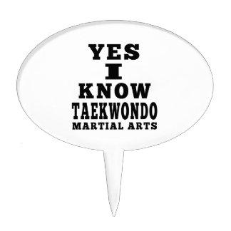 Yes I Know Taekwondo Cake Picks