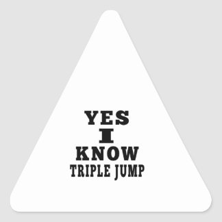 Yes I Know Triple jump Triangle Sticker