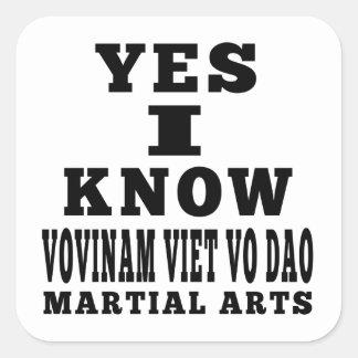 Yes I Know Vovinam Viet vo Dao Sticker