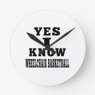 Yes I Know Wheelchair Basketball Clock