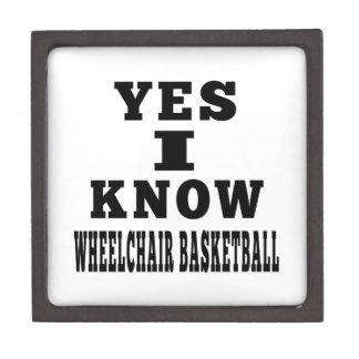 Yes I Know Wheelchair Basketball Premium Jewelry Box