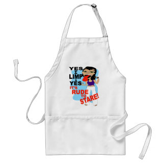 Yes I Limp & Yes It's Rude To Stare Adult Apron