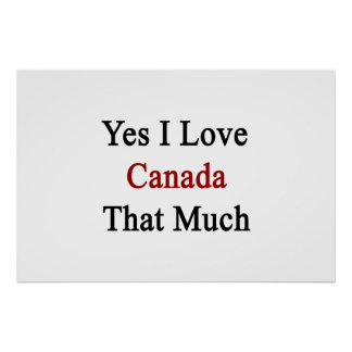 Yes I Love Canada That Much Poster