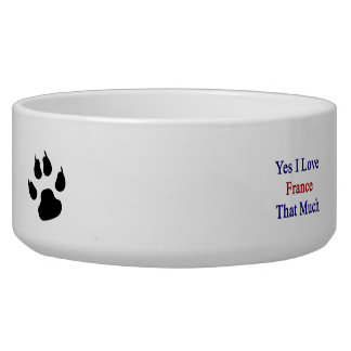 Yes I Love France That Much Dog Bowl