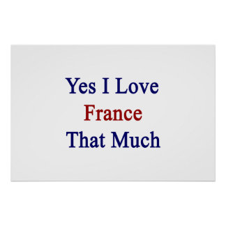 Yes I Love France That Much Poster