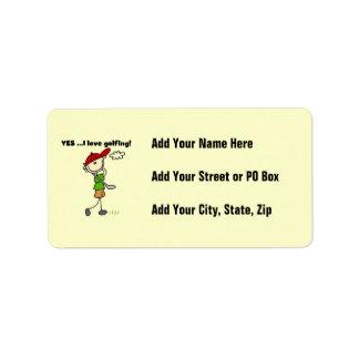 Yes I Love Golfing Address Label