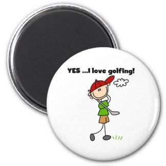 YES I Love Golfing Magnet