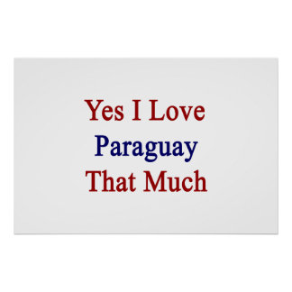 Yes I Love Paraguay That Much Poster