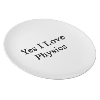 Yes I Love Physics Party Plate
