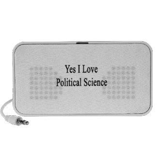 Yes I Love Political Science iPod Speaker