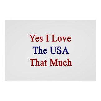 Yes I Love The USA That Much Poster