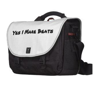Yes I make beats Laptop Messenger Bag
