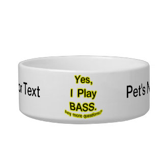 Yes I Play Bass Black Text Yellow Glow Bowl