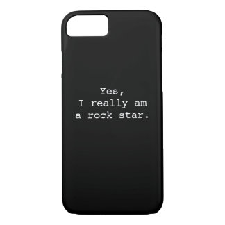 Yes, I really am a rock star. iPhone 8/7 Case