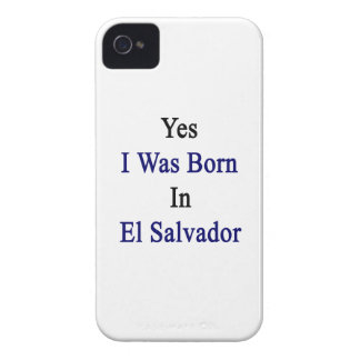 Yes I Was Born In El Salvador iPhone 4 Case-Mate Case