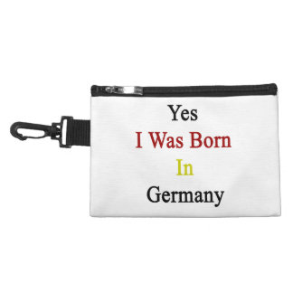 Yes I Was Born In Germany Accessory Bag