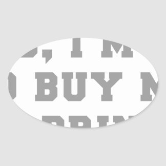 yes-Im-50-fresh-gray.png Oval Sticker
