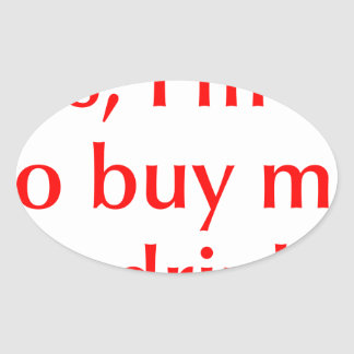 yes-Im-50-opt-red.png Oval Sticker