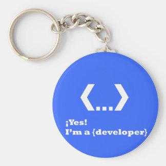 ¡Yes!....I'm a {Developer} (Llavero) Llavero Redondo Tipo Pin