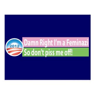 Yes I'm a Feminazi! Postcard