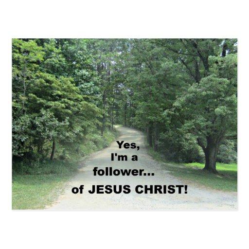 Yes, I'm a follower...of JESUS CHRIST! Postcard