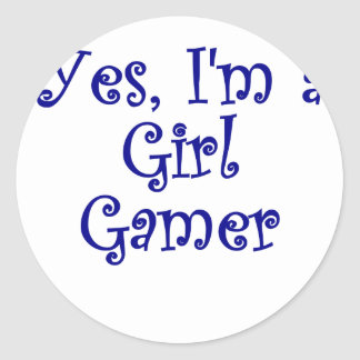 Yes Im a Girl Gamer Round Stickers