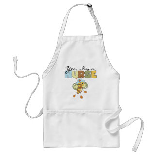 YES I'm a Nurse T-shirts and Gifts Adult Apron