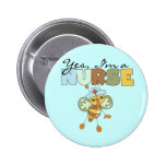 YES I'm a Nurse T-shirts and Gifts Buttons