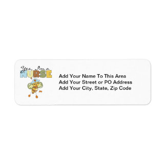 YES I'm a Nurse T-shirts and Gifts Label