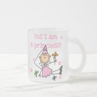 Yes I'm a Princess Frosted Glass Coffee Mug