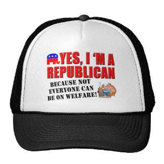 """Yes, I'm A Republican""... Ball Cap Trucker Hat"