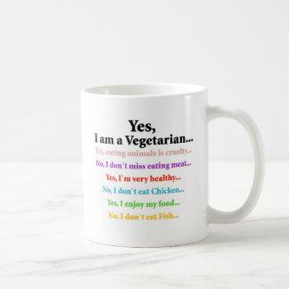 Yes, I'm a vegetarian! Coffee Mug
