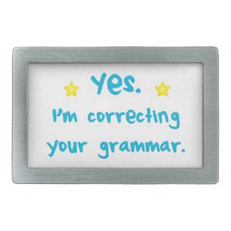 Yes, I'm correcting your grammar Rectangular Belt Buckle