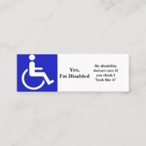 Yes, I'm Disabled Cards