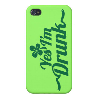 YES , I'm DRUNK with shamrock Cases For iPhone 4