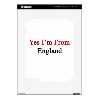 Yes I'm From England iPad 3 Decals