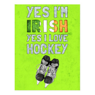 Yes I'm Irish, Yes I Love Hockey Postcard
