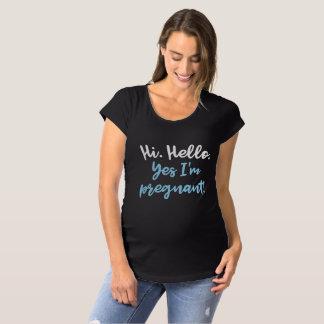 Yes I'm Pregnant Maternity T-Shirt
