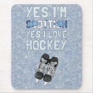 Yes I'm Scottish, Yes I Love Hockey Mouse Pad