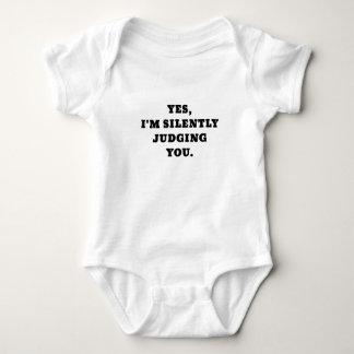 Yes Im Silently Judging You Baby Bodysuit