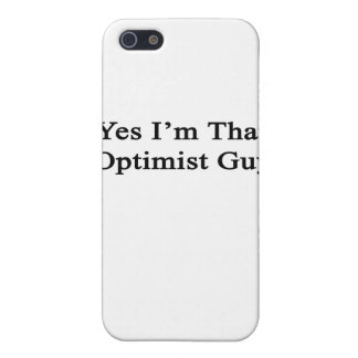 Yes I'm That Optimist Guy Cover For iPhone 5/5S