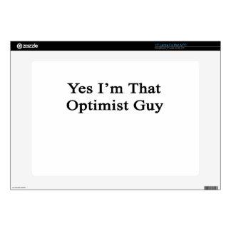 Yes I'm That Optimist Guy Laptop Decal