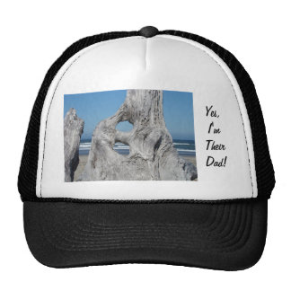 Yes I'm Their Dad! sports Caps Driftwood Ocean Trucker Hat