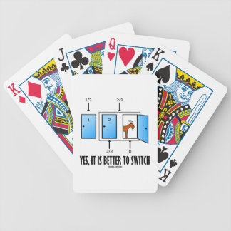 Yes, It Is Better To Switch (Three Doors One Goat) Bicycle Playing Cards