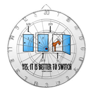 Yes, It Is Better To Switch (Three Doors One Goat) Dartboard