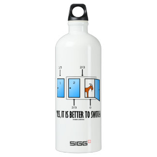 Yes, It Is Better To Switch (Three Doors One Goat) SIGG Traveler 1.0L Water Bottle