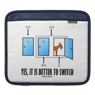 Yes, It Is Better To Switch (Three Doors One Goat) Sleeve For iPads